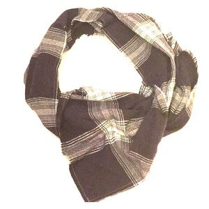 Accessories - Hello Winter Blue and White Plaid Blanket Scarf
